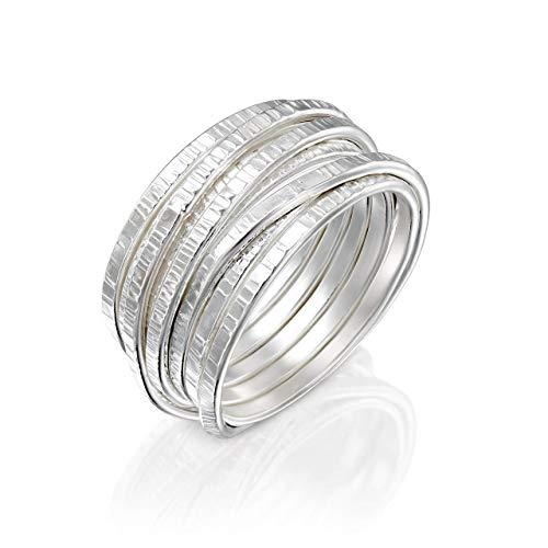 anillo oro blanco hecho a mano