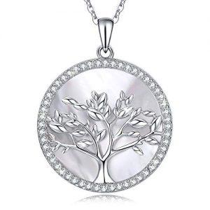 arboles de vida colgante mujer de plata